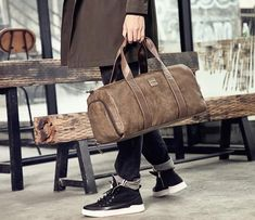 The Duffle Bag Trend You Need to Know in 2018 - Canvas Bag Leather Bag CanvasBag. Leather Duffle Bag, Canvas, Bags, Leather School Bag, Tela, Handbags, Canvases, Bag, Totes