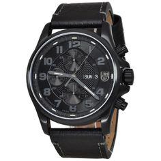 Luminox Valjoux Field Chronograph 1861BO Hotel Deals, Casio Watch, Watches For Men, Men's Watches, Chronograph, Smart Watch, Buy Now, Black Leather, Stuff To Buy