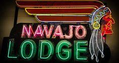 The Navajo Lodge Sign in Prescott Arizona