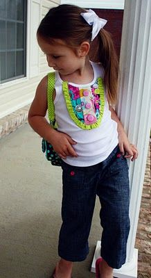 cute way to dress up an old tank top.