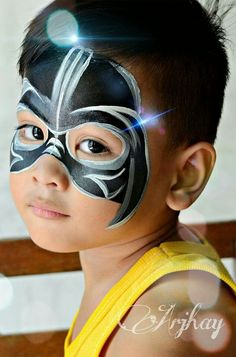 Arjhay Darth Vader Face Painting Design