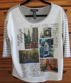 """For Sale...click on photo to visit our Ebay store...  Style & Co Womens Petite Small Graphic Embellished T-Shirt Top """"New York Life"""" #Styleco #GraphicTshirt #fashion #NewYork #ilovenewyork #newyorklife #shirt #top #blouse #womens"""
