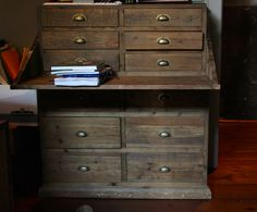 Great for home office! This chest converts itself into a desk, absolutely great for maximizing space.
