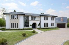 Jackson-Stops Estate Agents Wilmslow have a range of prestige townhouses & country property for sale in Cheshire. House Front, My House, Villas, House Plans Mansion, London House, Dream House Exterior, Exterior Remodel, House Goals, Detached House