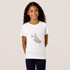 #girly - #Unicorn Rainbow T-Shirt