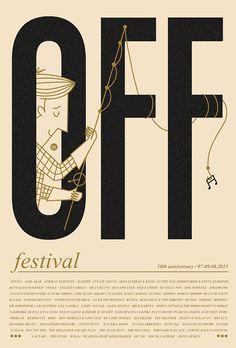 off festival / limited screenprint by  Dawid Ryski