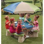 Step 2(MD) Table de pique-nique avec parasol « Naturally Playful »