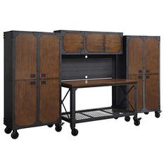 Whalen 3-piece Workbench & Cabinet Set -THIS CAN COME SEPARATELY. The Tall Cabinet is at Costco for $299 I think.