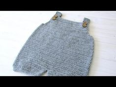 How to crochet baby / children's simple dungarees - the Robin dungarees / romper - YouTube