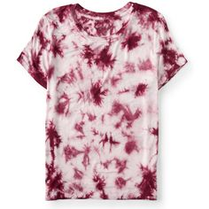 Aeropostale Prince & Fox Tie Dye Marine Tee (£6.21) ❤ liked on Polyvore featuring tops, t-shirts, shirts, crimson tide, tee-shirt, rayon t shirts, tie dye shirts, tie dye t shirts and tie-dye shirts