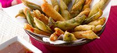 Delhaize - Tempura van groenten met pikante saus