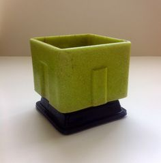 Art Deco Graniver cactuspot designed by Andries Copier and manufactured by Leerdam glassfactory Holland in 1929