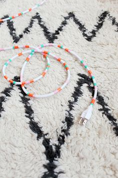 Decorate electrical cords with washi tape.