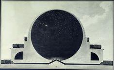 Cenotafio de Newton: Boullée, Étienne-Louis, 1728-1799«¡Espíritu sublime! ¡Genio amplio y profundo! ¡Ser divino! Acepta el homenaje de mi débil talento... ¡Ah, Newton!».