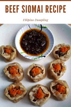 Beef Siomai Recipe is a Filipino style dumpling which has a filling of ground beef, mushroom, and vegetables. It is commonly served with chili garlic oil or soy sauce and calamansi #siomai #beefsiomai #shumai