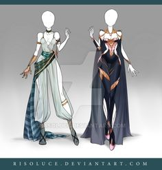 (CLOSED) Adoptable Outfit Auction 124-125 by Risoluce on DeviantArt