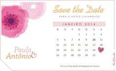 Save the Date Paula e Antônio - By Fiori di Giardino