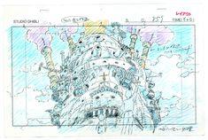Studio Ghibli Layout Designs: Understanding the Secrets of Takahata/Miyazaki Animation at Musée Art Ludique art is a conversation Hayao Miyazaki, Art Studio Ghibli, Studio Ghibli Movies, Art Anime, Anime Kunst, Totoro, Storyboard, Howls Moving Castle, Animation