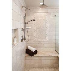 Emser Tile Crema Marfil 1 x 12 Marble Bullnose Tile Trim in Crema Marfil Classic Stone Mosaic Tile, Mosaic Wall, Wall Tiles, Mosaic Glass, Marble Mosaic, Travertine Tile, Bathroom Flooring, Bathroom Wall, Bathroom Ideas