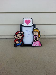 Mario and Princess Peach Picture Frame - Couples Picture Frame on Etsy, $15.50