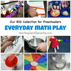 Preschool Math Activities - Teaching 2 and 3 Year Olds