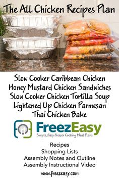 FreezEasy All Chicken Recipes Mealk Plan ~ Details