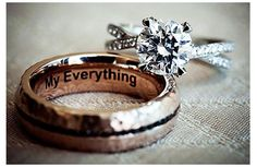 """My Everything"" wedding band engraving"