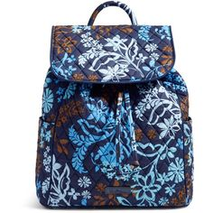 Vera Bradley Drawstring Backpack in Java Floral ( 98) ❤ liked on Polyvore  featuring bags a01b0d122d153