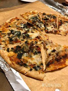 SPINACH & MUSHROOM PIZZA