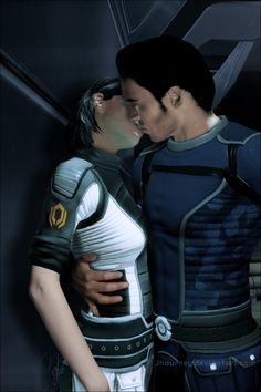 Oh god, the feelings! Paragon Femshep stayed loyal to Kaidan in but goddamn, I hope she gets a chance to chew him out for Horizon before they reconcile in ^Shes wearing Cerberus armour still. Mass Effect Romance, Mass Effect Art, Mass Effect Kaidan, Kaidan Alenko, Miranda Lawson, Mass Effect Universe, Commander Shepard, My Fantasy World, Big Guns