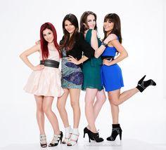Ariana Grande,Victoria Justice,Liz Gillies and Daniella Monet as Cat Valentine, Tori Vega, Jade West and Trina Vega in Victorious Season 1 Promoshoot.