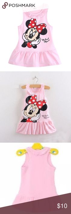 NWT Summer Minnie Mouse dress NWT little girl summer Minnie Mouse dress, cotton , adorable pink .  I bought one of these for my grand daughter as well and she loves it.  So cute ! Dresses Casual