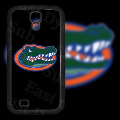 Florida Gators Black Background on Samsung Galaxy S4 Black Rubber Silicone Case by EastCoastDyeSub on Etsy https://www.etsy.com/listing/171911811/florida-gators-black-background-on
