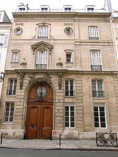 Hotel de Marsilly - (1738) by Claude Bonnot, 18 rue du Cherche-Midi, Paris - Rococo Hôtel particulier