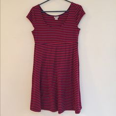 Red & Blue Striped Maternity Dress Good condition; Some light pilling starting (see last photo). Offers welcome  Motherhood Maternity Dresses