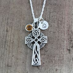 Sterling silver Celtic Cross Celtic Jewelry Irish by LifeOfSilver, $44.80