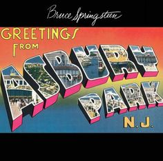 Bruce Springsteen: Greetings from Asbury Park, N. A list of all the groups that have released album covers that look like the Bruce Springsteen Greetings from Asbury Park, N. Bruce Springsteen Albums, Blinded By The Light, Classic Album Covers, Pochette Album, E Street Band, Asbury Park, Great Albums, Jersey Girl, Album Covers