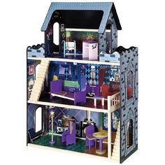 Monster High Furniture And Doll House Monster High Mansion Wooden Doll House #MonsterHigh