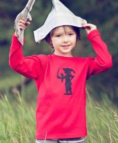 Buccaneer Boy Long Sleeved Nostalgic Graphic by elizabethhorton, $22.00