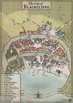 The City of Blackcliffe by DanielHasenbos on DeviantArt