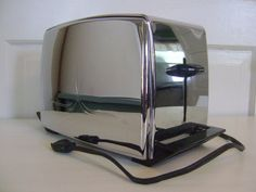 Mid Century Toaster Chrome and Bakelite by cherryrivers on Etsy, $36.00