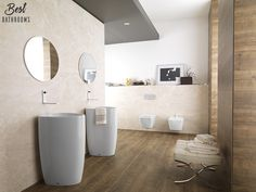 #BestBathrooms. Amor puro por Lounge y su evolución esencialmente geométrica #baños #diseñodebaños