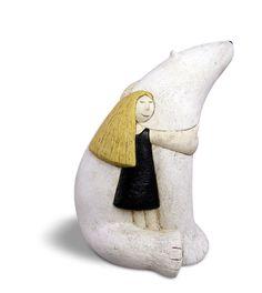 Icebear and girl by Paul Smith