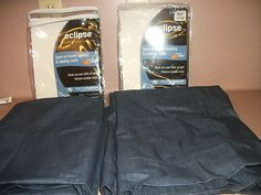 ROD PANELS. TWO PANELS. 42 IN X 54.BLUE COLOR. THERMA BACKING. ECLIPSE. NEW.
