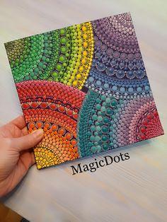 Unique Painted Gifts, Home & Kitchen Decor by MagicDots Mandala Canvas, Mandala Dots, Dot Art Painting, Mandala Painting, Elspeth Mclean, Iris Folding, Dot Dot, Canvas Art, Canvas Prints
