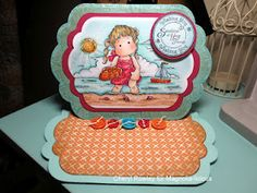 COTTAGE CREATIONS: JUNE CHALLENGE CARD-WATER, WATER, EVERYWHERE!!