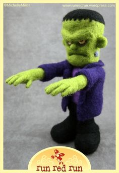Needle felted Frankenstein's Monster | by Run Red Run