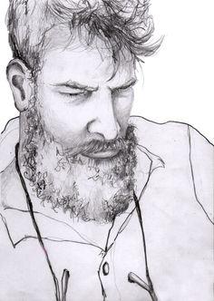 Lars  #illustration #painting #watercolor #fashion #drawing #portrait #beard