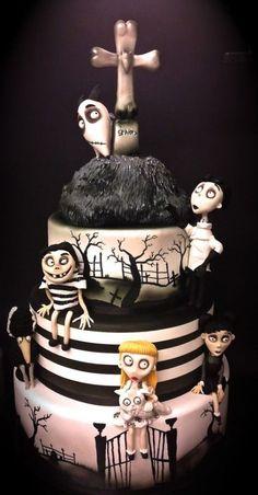 if you like Tim Burton... 30 Breathtaking Halloween and Wedding Cakes