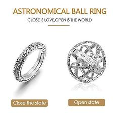 Euforia Jewels Astronomical Ball Ring - Closing is Love - Opening is World Perfect Gift For Boyfriend, Great Gifts For Girlfriend, Boyfriend Gifts, Ring Size Guide, Couple Rings, Gold Pendant Necklace, Jewelry Gifts, Jewelry Accessories, Fashion Accessories